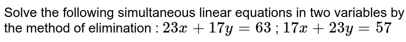 ........ Is not a linear equation in two variables.