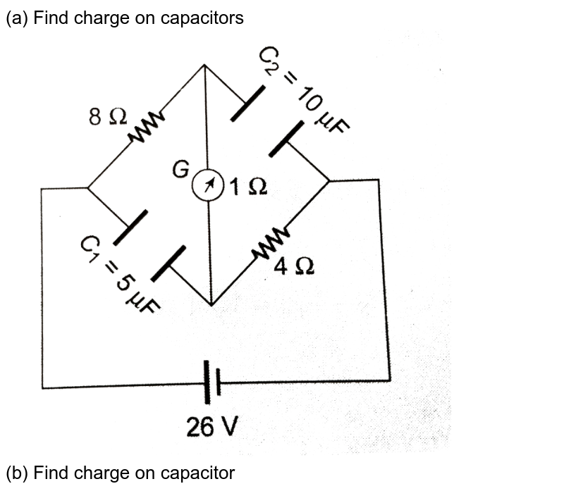 """(a) Find charge on capacitors <br>  <img src=""""https://d10lpgp6xz60nq.cloudfront.net/physics_images/CPS_V02_C04_S01_025_Q01.png"""" width=""""80%""""> <br> (b) Find charge on capacitor <br> <img src=""""https://d10lpgp6xz60nq.cloudfront.net/physics_images/CPS_V02_C04_S01_025_Q02.png"""" width=""""80%""""> <br> (c ) Find energy stored in capacitor. <br> <img src=""""https://d10lpgp6xz60nq.cloudfront.net/physics_images/CPS_V02_C04_S01_025_Q03.png"""" width=""""80%"""">"""