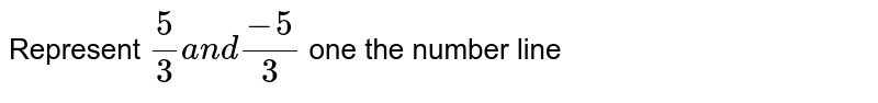 Represent `5/3a n d(-5)/3 ` one the number line