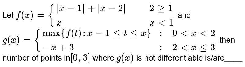 """Let `f(x)={(
