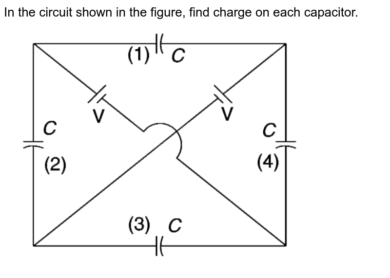 """In the circuit shown in the figure, find charge on each capacitor. <br> <img src=""""https://d10lpgp6xz60nq.cloudfront.net/physics_images/IJA_PHY_V02_C07_E01_037_Q01.png"""" width=""""80%"""">"""