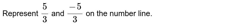 Represent `5/3` and `(-5)/3` on the number line.