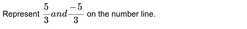 Represent `5/3a n d(-5)/3` on the number line.
