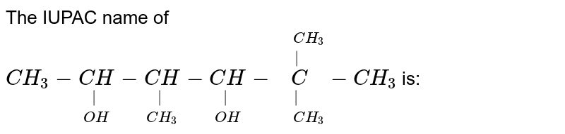 """The IUPAC name of  `CH_(3)-underset(OH)underset(