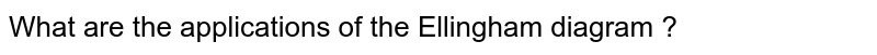 What are the applications of the Ellingham diagram ?