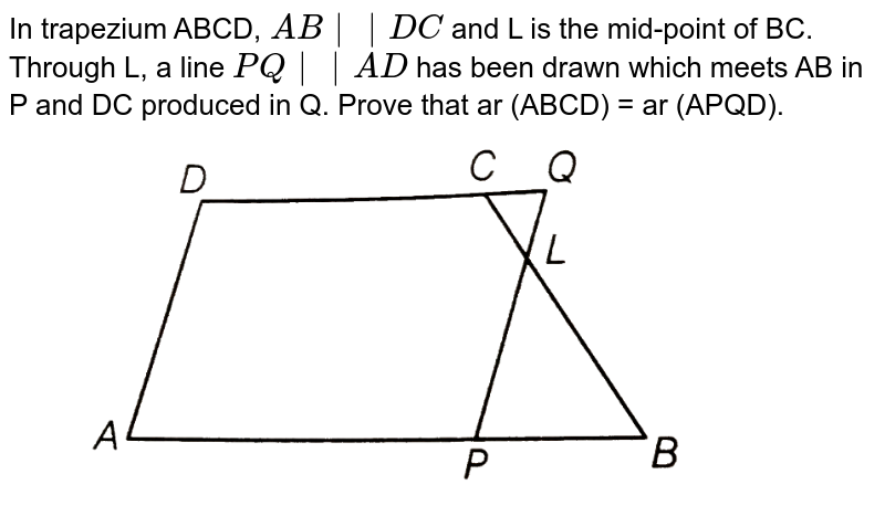 """In trapezium ABCD, `AB 
