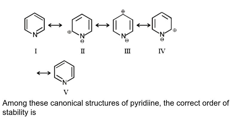 """<img src=""""https://d10lpgp6xz60nq.cloudfront.net/physics_images/MOT_CON_JEE_CHE_C12_E02_024_Q01.png"""" width=""""80%""""> <br> Among these canonical structures of pyridiine, the correct order of stability is"""