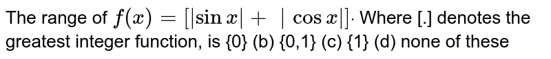 """The range of `f(x)=[