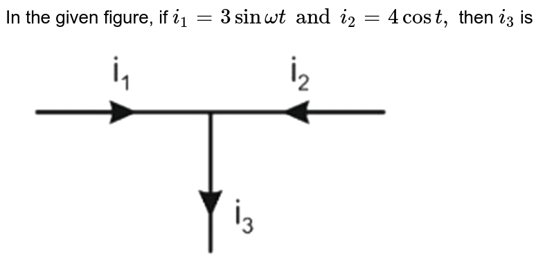 """In the given figure, if `i_(1)=3 sin omegat and i_(2)=4 cos t,` then `i_(3)` is  <br> <img src=""""https://d10lpgp6xz60nq.cloudfront.net/physics_images/NTA_JEE_MOK_TST_36_E01_003_Q01.png"""" width=""""80%"""">"""