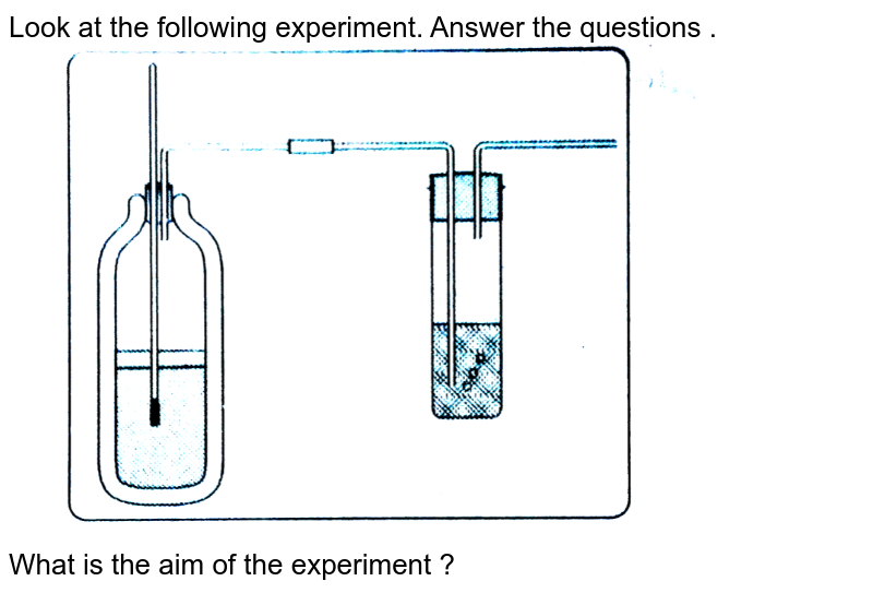 """Look at the following experiment. Answer the questions . <br> <img src=""""https://d10lpgp6xz60nq.cloudfront.net/physics_images/BRS_QB_BIO_X_C02_E06_261_Q01.png"""" width=""""80%""""> <br> What is the aim of the experiment ?"""