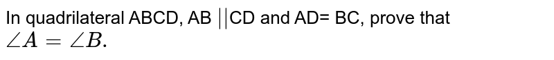 """In quadrilateral ABCD, AB `""""