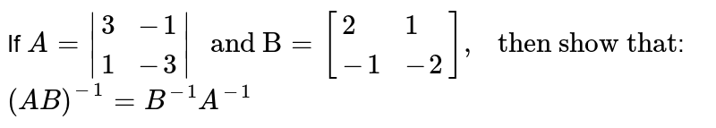 """If `A=