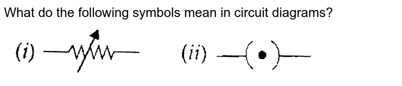 """What do the following symbols mean in circuit diagrams? <br> <img src=""""https://d10lpgp6xz60nq.cloudfront.net/physics_images/NCERT_PHY_X_C01_E01_034_Q01.png"""" width=""""80%"""">"""