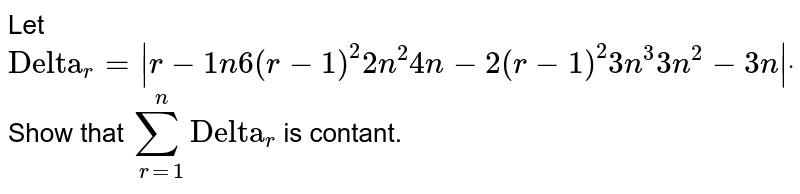 """Let `""""Delta""""_r=