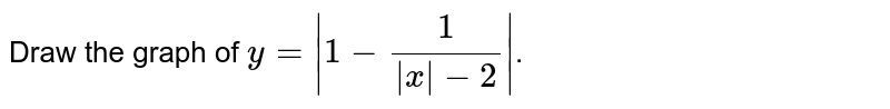 Draw the graph of `y=|1-(1)/(|x|-2)|`.