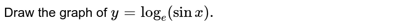 Draw the graph of `y = log_(e) (sin x).`