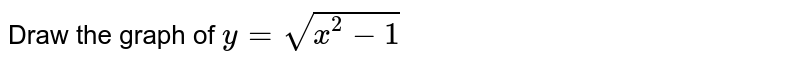 Draw the graph of `y= sqrt (x^(2)-1)`