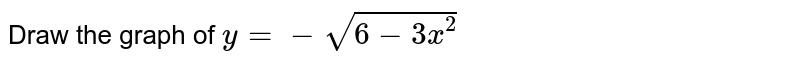 Draw the graph of `y= -sqrt (6-3x^(2))`