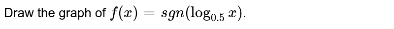 """Draw the graph of `f(x) = """"sgn(log_(0.5) x)`."""