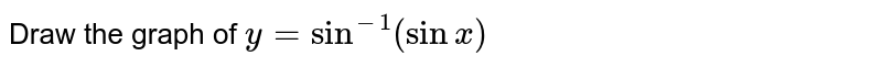 Draw the graph of `y=sin^(-1)(sin x)`