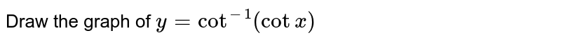 Draw the graph of `y=cot^(-1)(cot x)`
