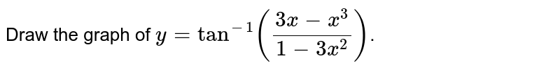 Draw the graph of `y=tan^(-1)((3x-x^(3))/(1-3x^(2)))`.