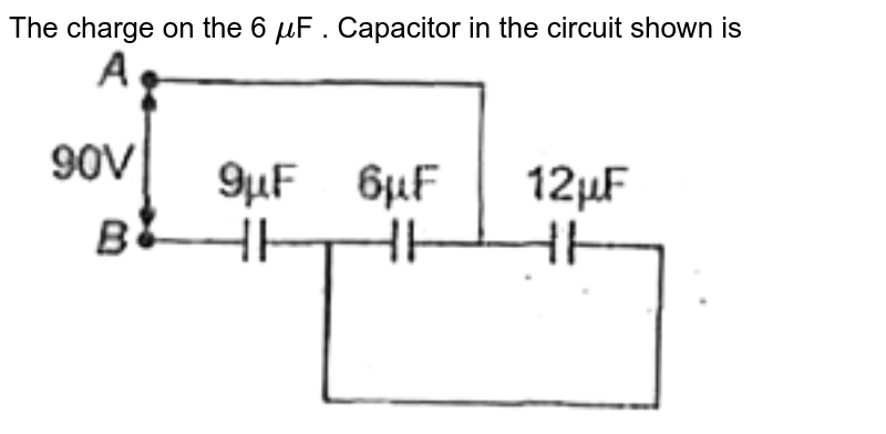 """The charge on the  6 `mu`F . Capacitor in the circuit shown is  <br> <img src=""""https://d10lpgp6xz60nq.cloudfront.net/physics_images/AAK_P5_NEET_PHY_SP5_C17_E03_040_Q01.png"""" width=""""80%"""">"""