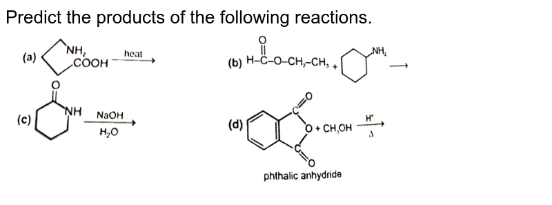 """Predict the products of the following reactions. <br> <img src=""""https://d10lpgp6xz60nq.cloudfront.net/physics_images/RES_CHM_CCAK_E01_026_Q01.png"""" width=""""80%"""">"""