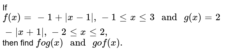 """If `f(x) = -1 +