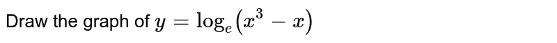 Draw the graph of `y=log_(e)(x^(3)-x)`