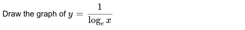 Draw the graph of `y=1/(log_(e)x)`