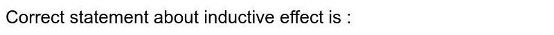 Correct statement about inductive effect is :