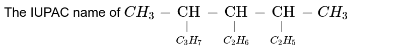 """The IUPAC name of  `CH_3-underset(C_3H_7)underset(