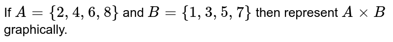 If `A = {2,4,6,8}` and `B = {1,3,5,7}` then represent `A xx B` graphically.