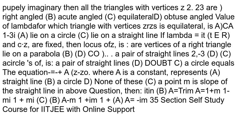 The equation `bar(z)=bar(z_0)+A(z-z_0)`  where A is a constant, and if m is the slope of the straight line then A is