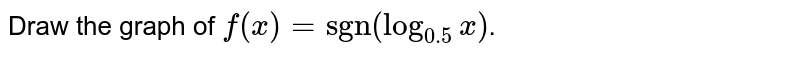 """Draw the graph of `f(x) = """"sgn""""(log_(0.5) x)`."""