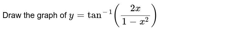 Draw the graph of `y=tan^(-1)((2x)/(1-x^(2)))`