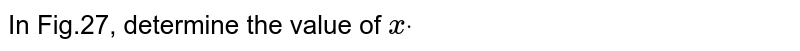 In Fig.27, determine the   value of `xdot`