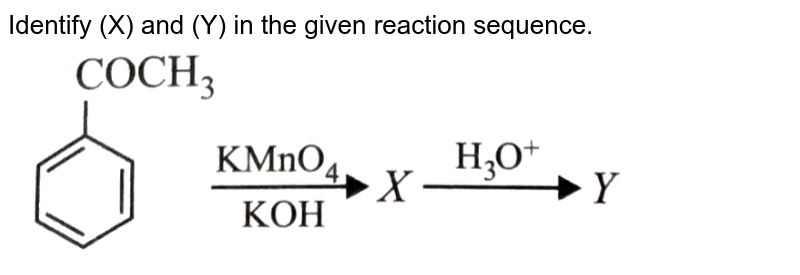"""Identify (X) and (Y) in the given reaction sequence. <br> <img src=""""https://d10lpgp6xz60nq.cloudfront.net/physics_images/NCERT_OBJ_FING_CHE_XII_C12_E01_076_Q01.png"""" width=""""80%"""">"""