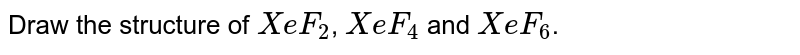 Draw the structure of `XeF_2`, `XeF_4` and `XeF_6`.