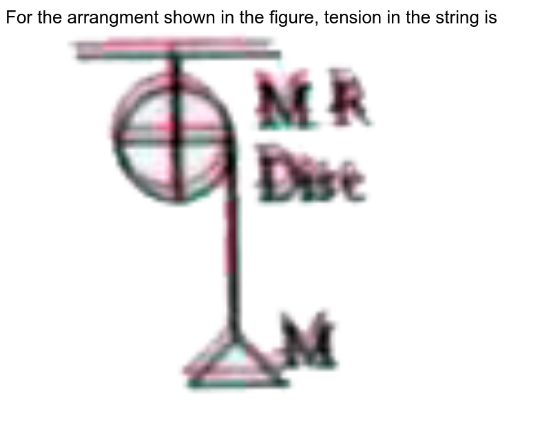 """For the arrangment shown in the figure, tension in the string is <br> <img src=""""https://doubtnut-static.s.llnwi.net/static/physics_images/AKS_TRG_AO_PHY_XI_V01_B_C03_E01_022_Q01.png"""" width=""""80%"""">"""
