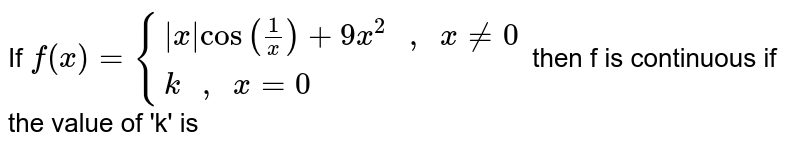 """If ` f(x) = {{:(