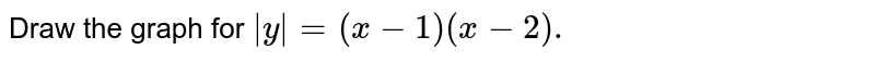 Draw the graph for `|y|=(x-1)(x-2).`