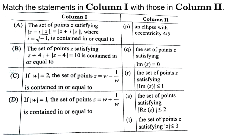 """Match the statements in `bb""""Column I""""` with those in `bb""""Column II""""`. <br> <img src=""""https://d10lpgp6xz60nq.cloudfront.net/physics_images/ARH_SKG_ALG_C01_E12_023_Q01.png"""" width=""""80%"""">"""