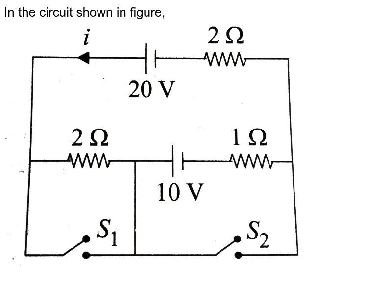 """In the circuit shown in figure, <br> <img src=""""https://d10lpgp6xz60nq.cloudfront.net/physics_images/BMS_V03_CA2_E01_139_Q01.png"""" width=""""80%"""">"""