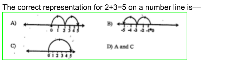 """The correct representation for 2+3=5 on a number line is––<img src=""""https://doubtnut-static.s.llnwi.net/static/physics_images/NCERT_SUM_TEL_MAT_VII_SUA_EO5_019_Q01.png"""" width=""""80%"""">"""