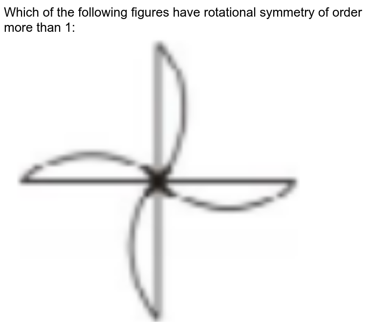 """Which of the following figures have rotational symmetry of order more than 1:<br><img src=""""https://doubtnut-static.s.llnwi.net/static/physics_images/PSEB_MAT_VII_C14_E02_006_Q01.png"""" width=""""80%"""">"""