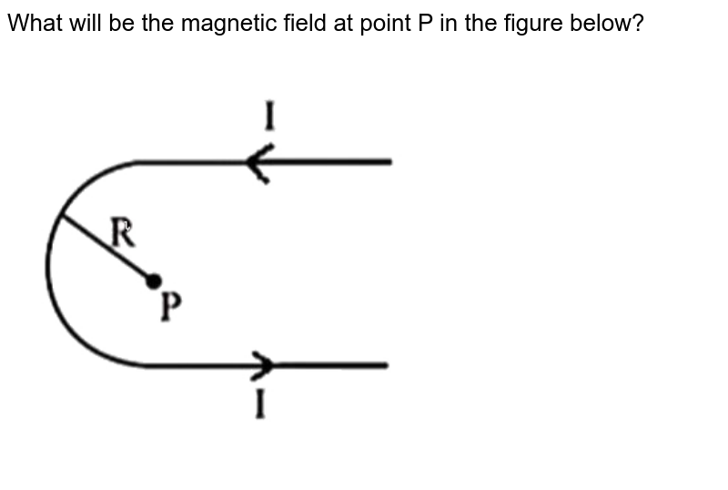 """What will be the magnetic field at point P in the figure below? <br> <img src=""""https://d10lpgp6xz60nq.cloudfront.net/physics_images/NTA_NEET_SET_13_E01_012_Q01.png"""" width=""""80%"""">"""
