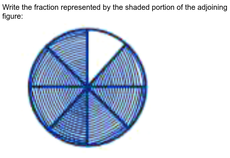 """Write the fraction represented by the shaded portion of the adjoining figure: <br> <img src=""""https://doubtnut-static.s.llnwi.net/static/physics_images/NCERT_EXM_MAT_VI_C04_E01_072_Q01.png"""" width=""""80%"""">"""