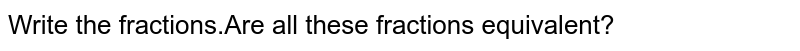 Write the fractions.Are all these fractions equivalent?